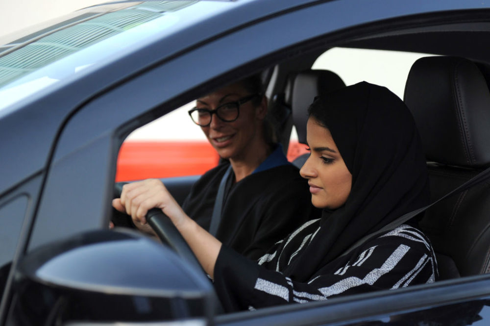 Saudi Arabia gives first ever drivers licenses to women.