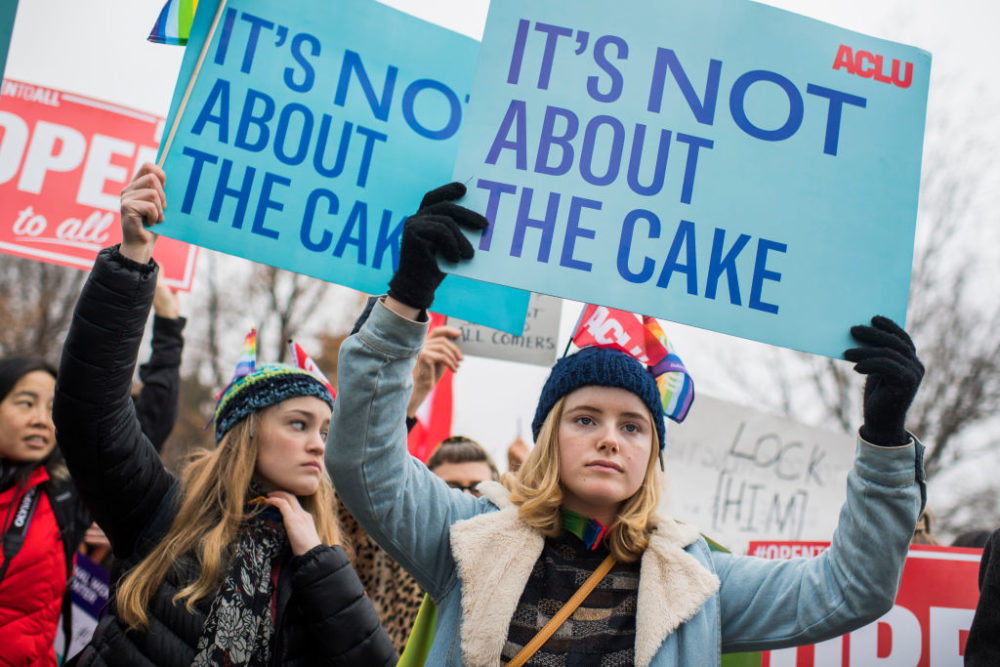 Supreme Court rules bakery can refuse service to gay customers.