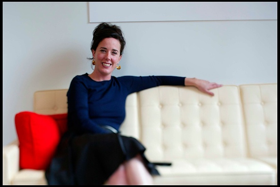 Kate Spade at her offices