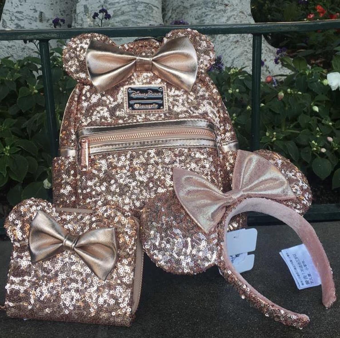 Disney Rose Gold Backpack