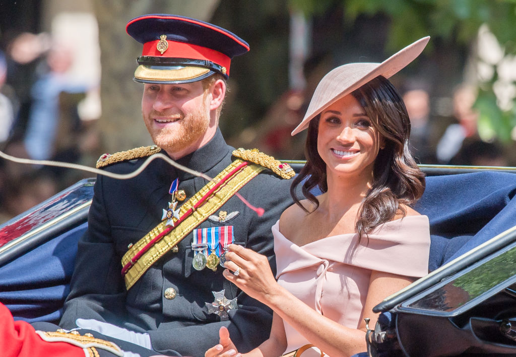 Picture of Meghan Markle Trooping the Colour Dress