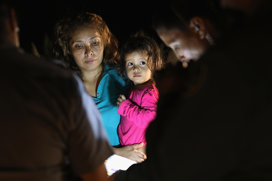 Asylum seekers detained at the border in Texas