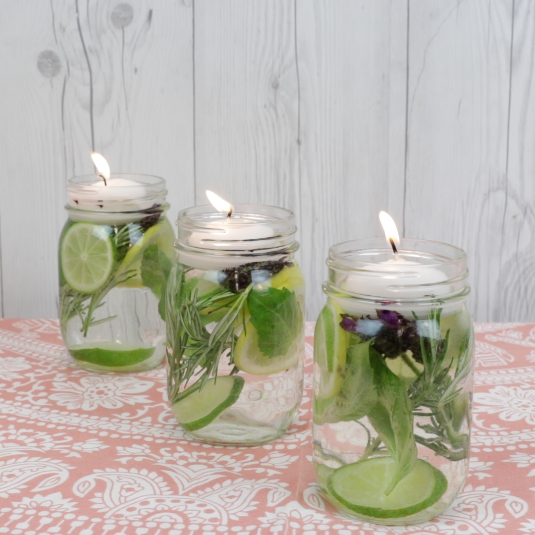 DIY Bug Repellent Jars