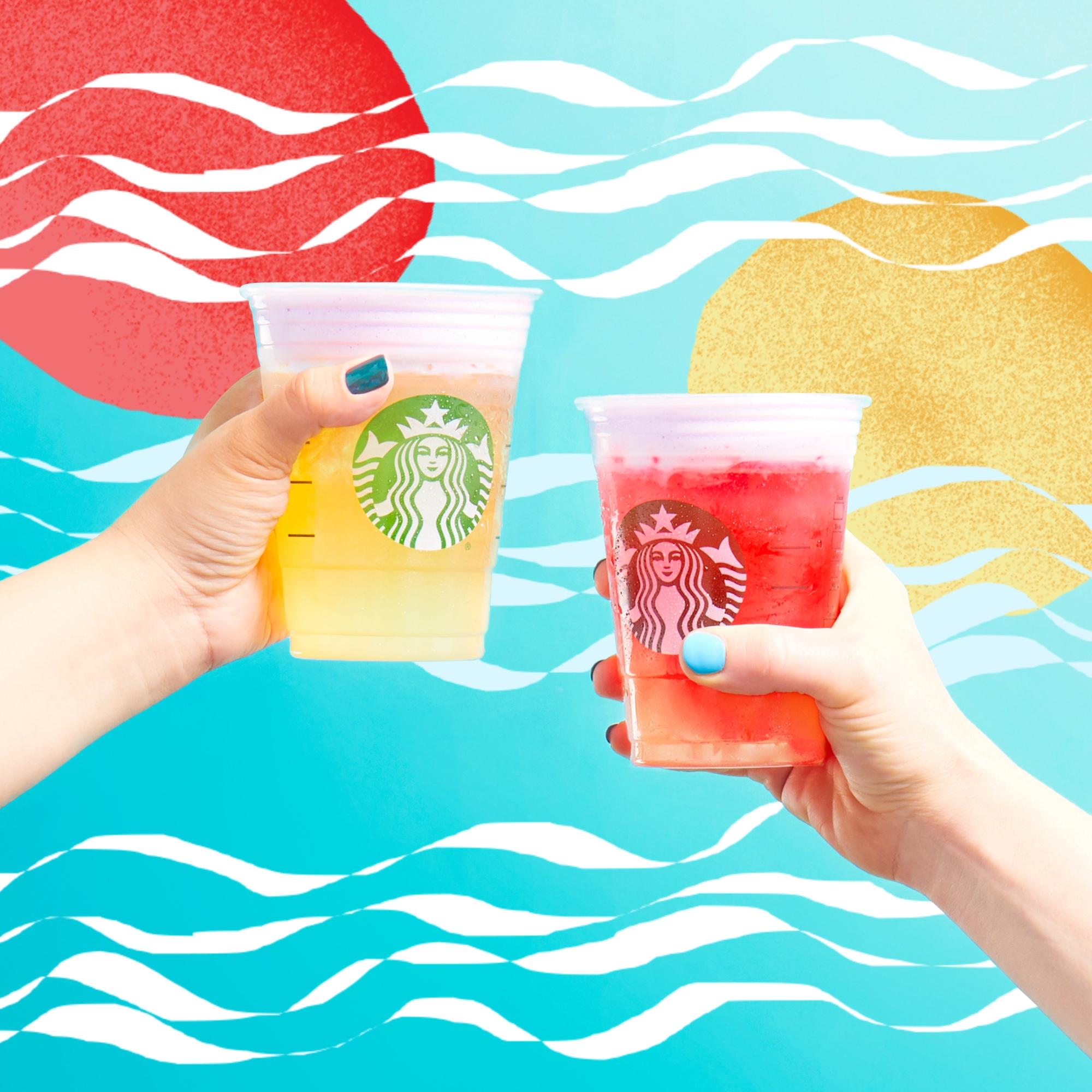 Starbucks cold foam tea lemonades