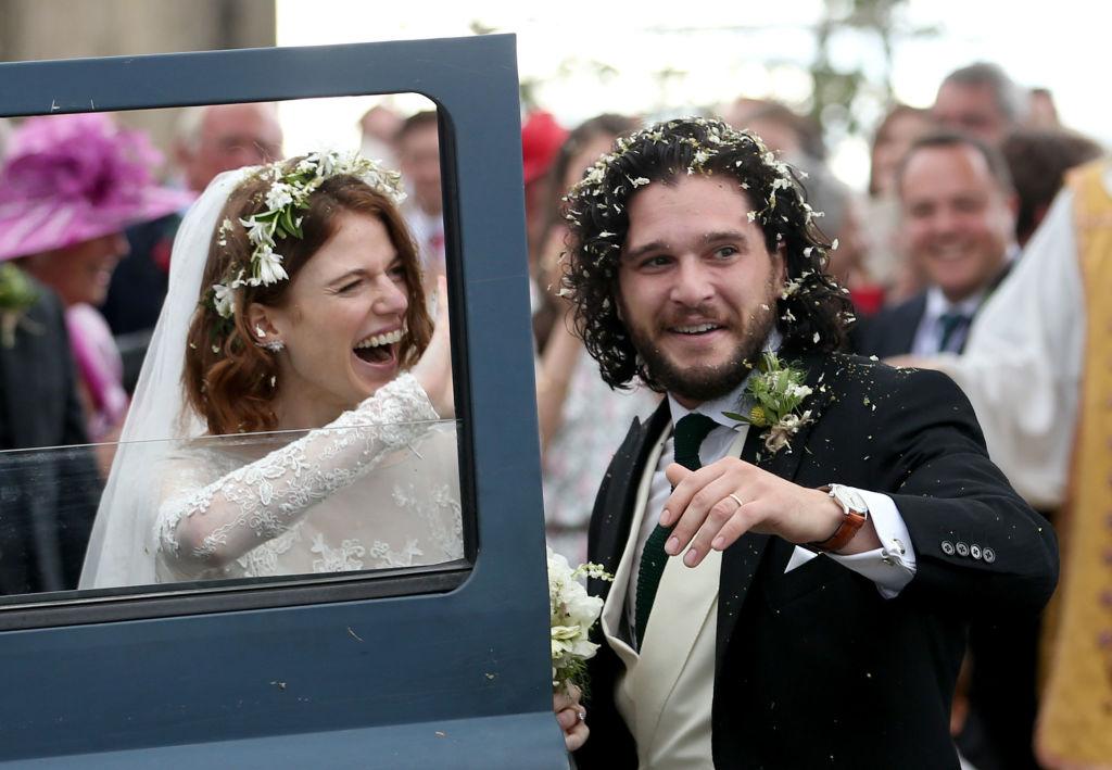Picture of Kit Harington Rose Leslie Wedding