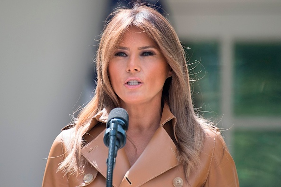 """Melania Trump annoucning her """"Be Best"""" campaign"""