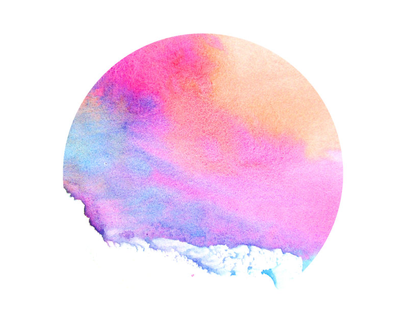 Image of a full moon watercolor