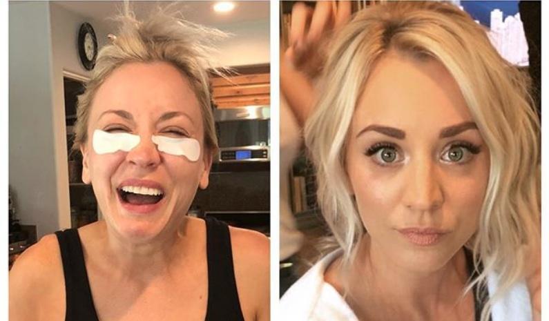 Kaley Cuoco makeup