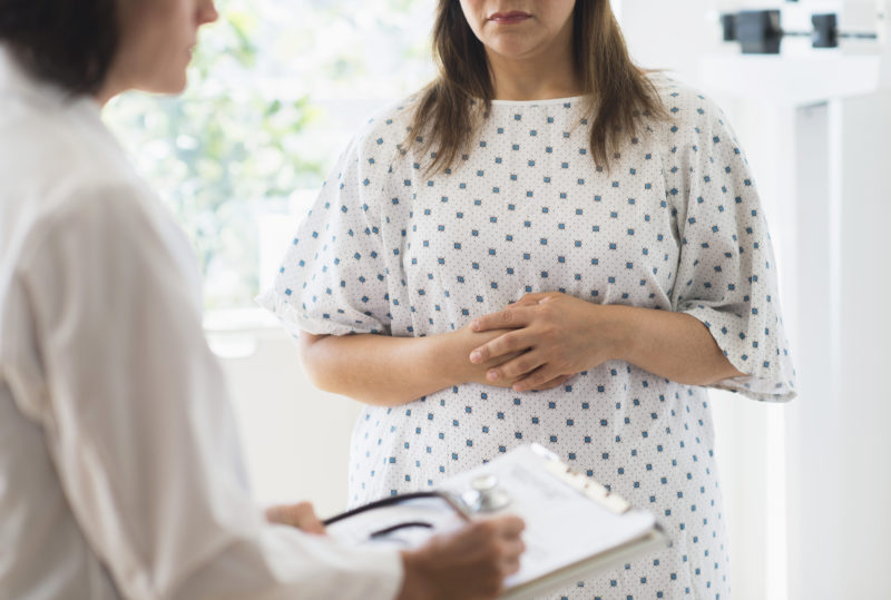Image of woman at doctor