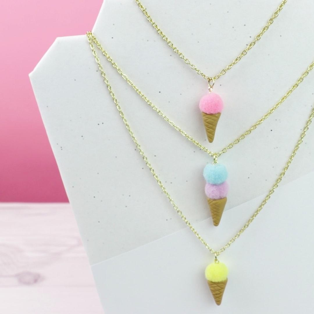 Aromatherapy Ice Cream Necklace