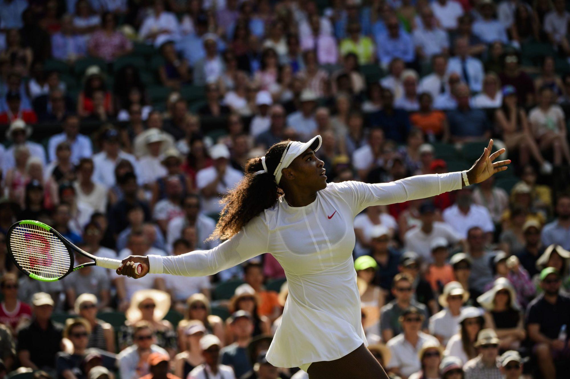 Photo of Serena Williams at Wimbledon 2018