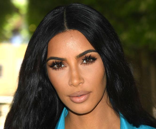 PARIS, FRANCE - JUNE 21: Kim Kardashian attends the Louis Vuitton Menswear Spring/Summer 2019 show as part of Paris Fashion Week on June 21, 2018 in Paris, France