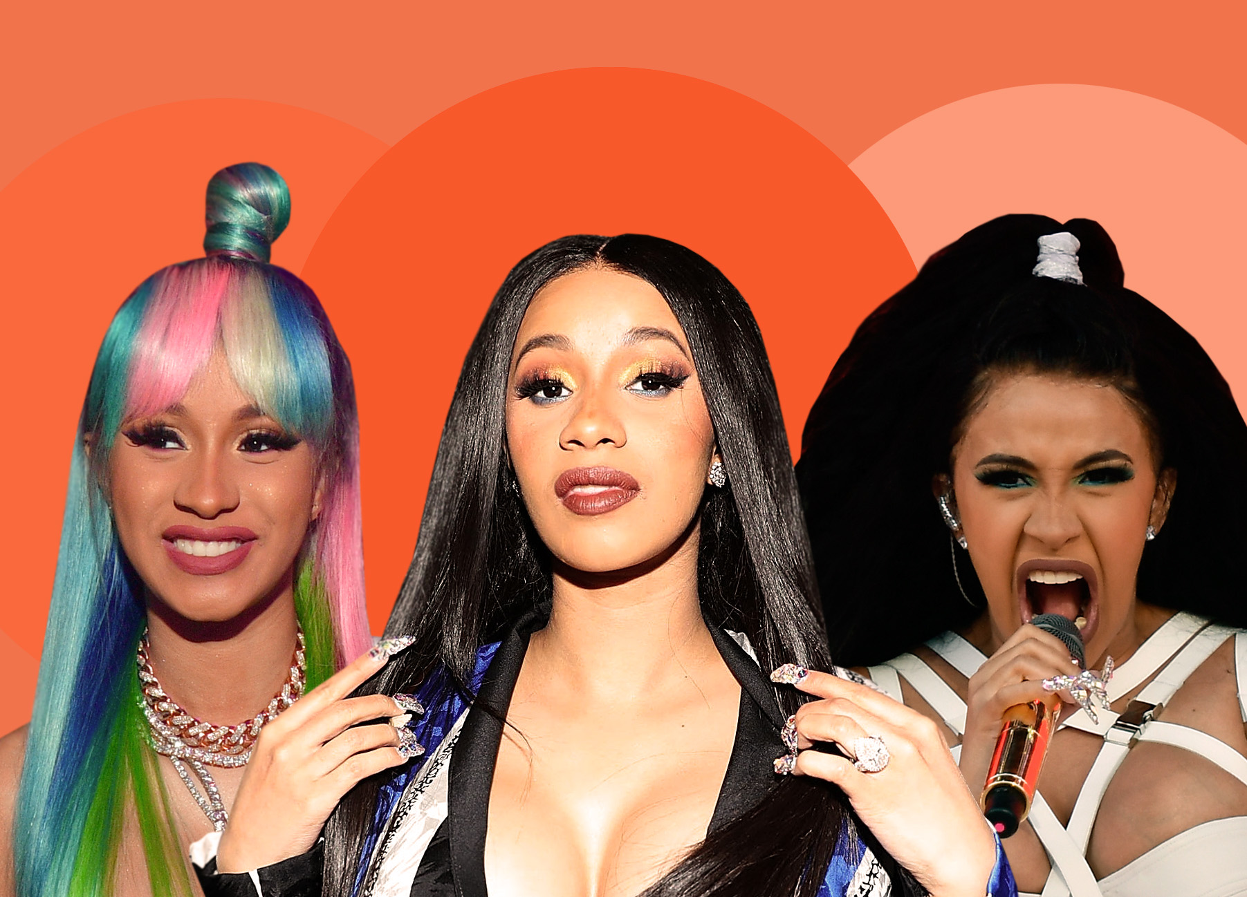 Cardi B Iconic Hair Moments
