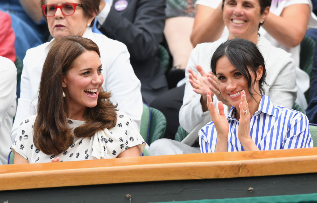 Picture of Kate Middleton Meghan Markle Wimbledon