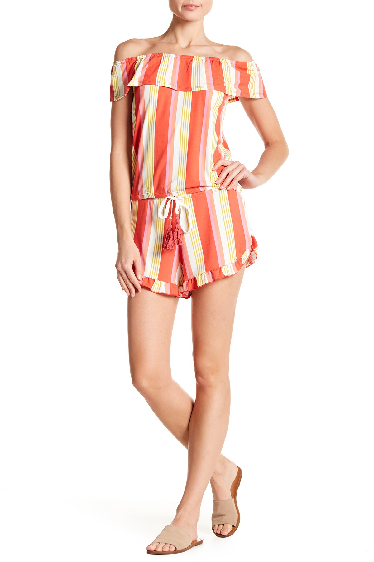 Poof-Striped-Short-Set
