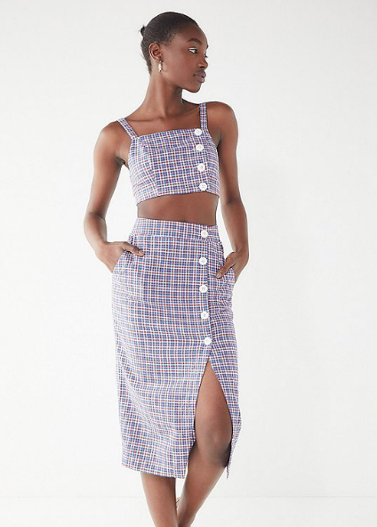 Urban-Outfitters-Amanda-Linen-Button-Down-Crop-Top-Skirt