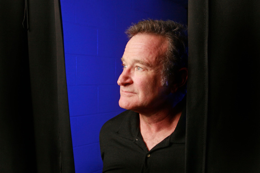 Robin Williams at a performance at Ted Constant Convocation Center