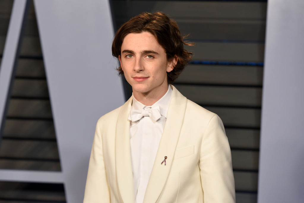 BEVERLY HILLS, CA - MARCH 04: Timothee Chalamet attends the 2018 Vanity Fair Oscar Party Hosted By Radhika Jones - Arrivals at Wallis Annenberg Center for the Performing Arts on March 4, 2018 in Beverly Hills,