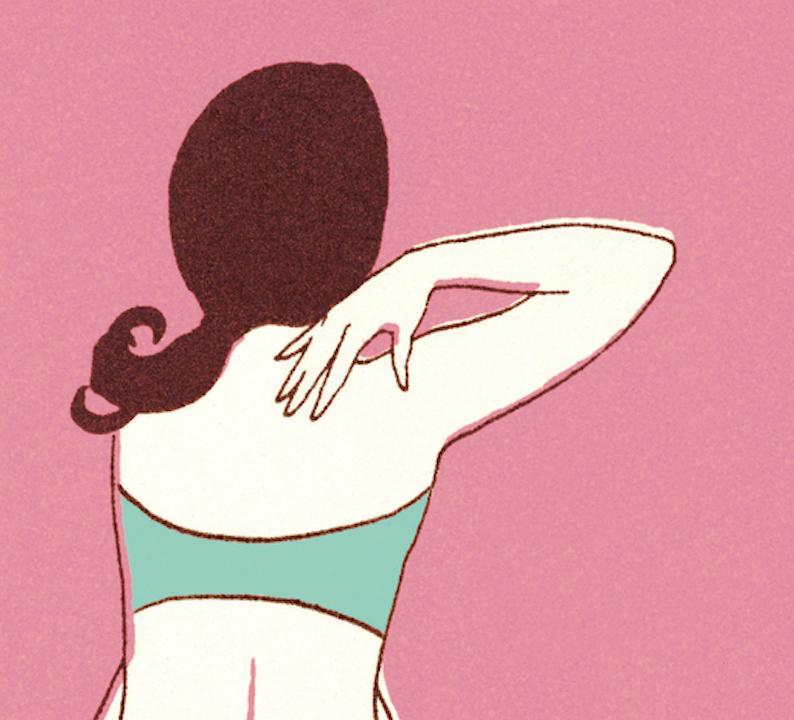 Woman in her bikini