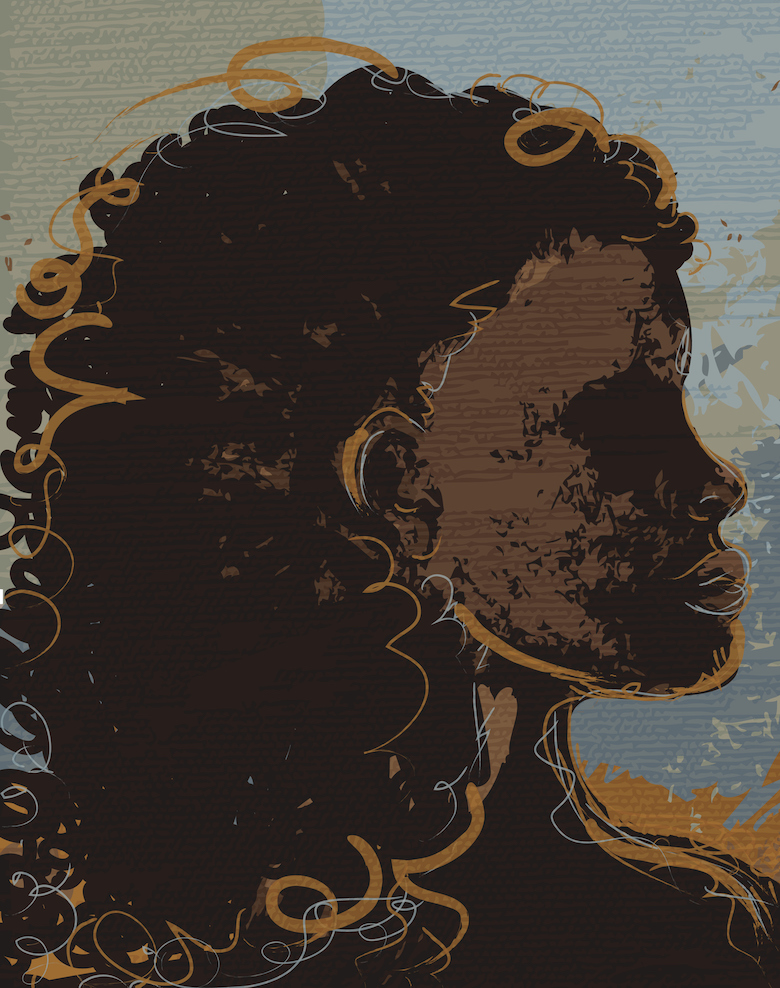 Black woman illustrated