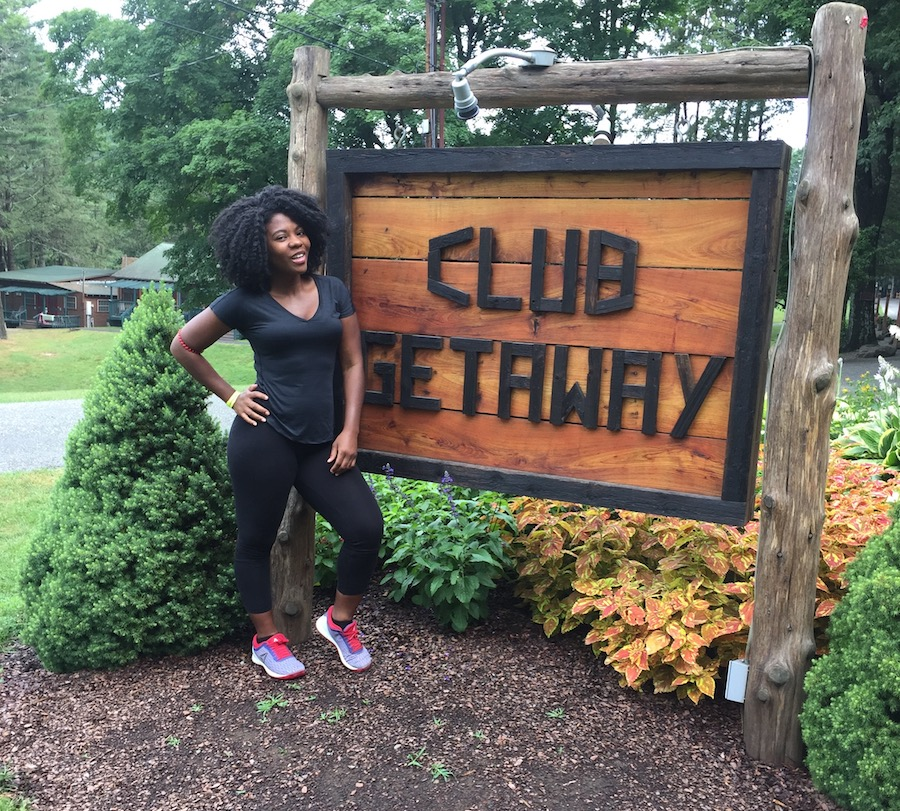 Patrice at adult summer camp