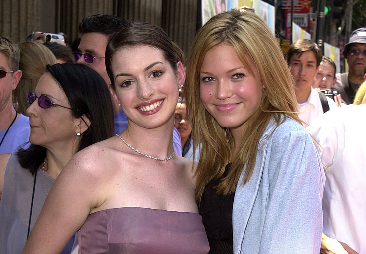 Picture of Anne Hathaway Mandy Moore Princess Diaries Reunion