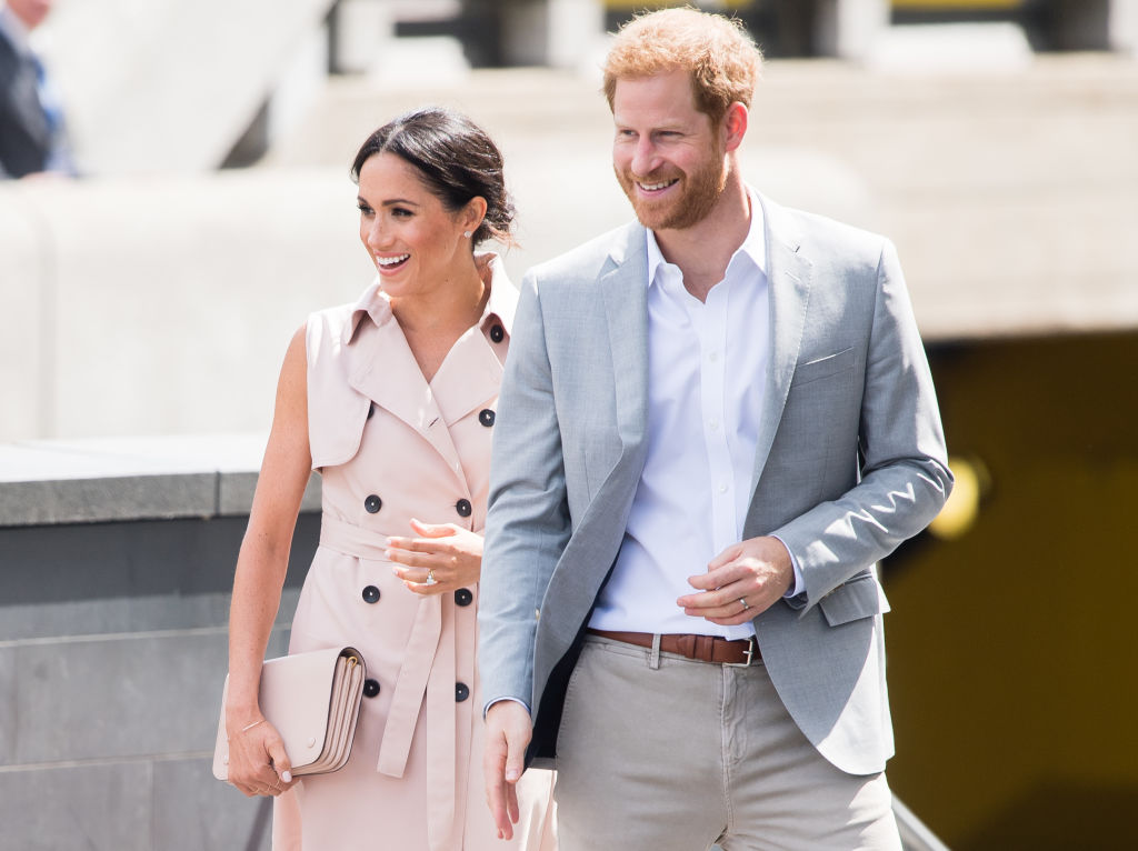 Picture of Prince Harry Meghan Markle Dog