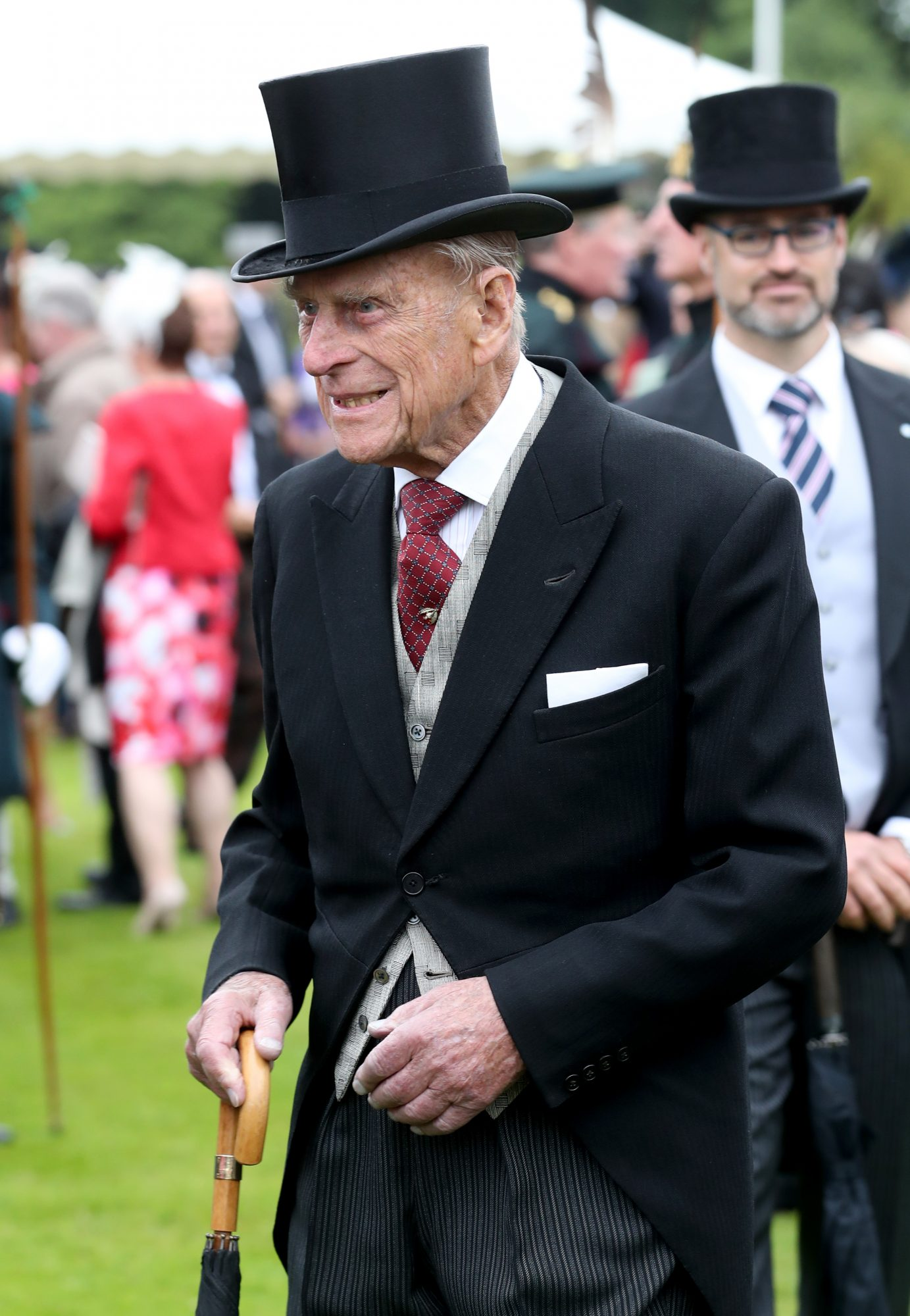 EDINBURGH, SCOTLAND - JULY 4:  Prince Philip, Duke of Edinburgh attends the annual garden party at the Palace of Holyroodhouse on July 4, 2017  in Edinburgh, Scotland. (Photo by Jane Barlow - WPA Pool/Getty Images)