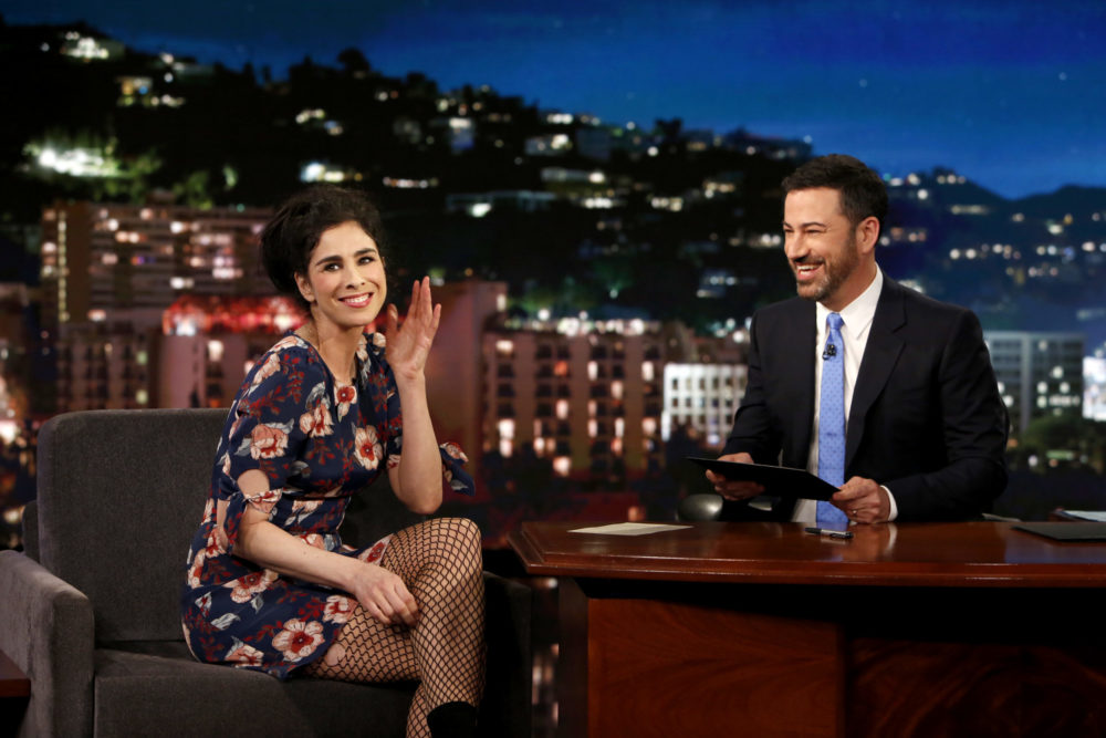 Photo of Sarah Silverman and Jimmy Kimmel