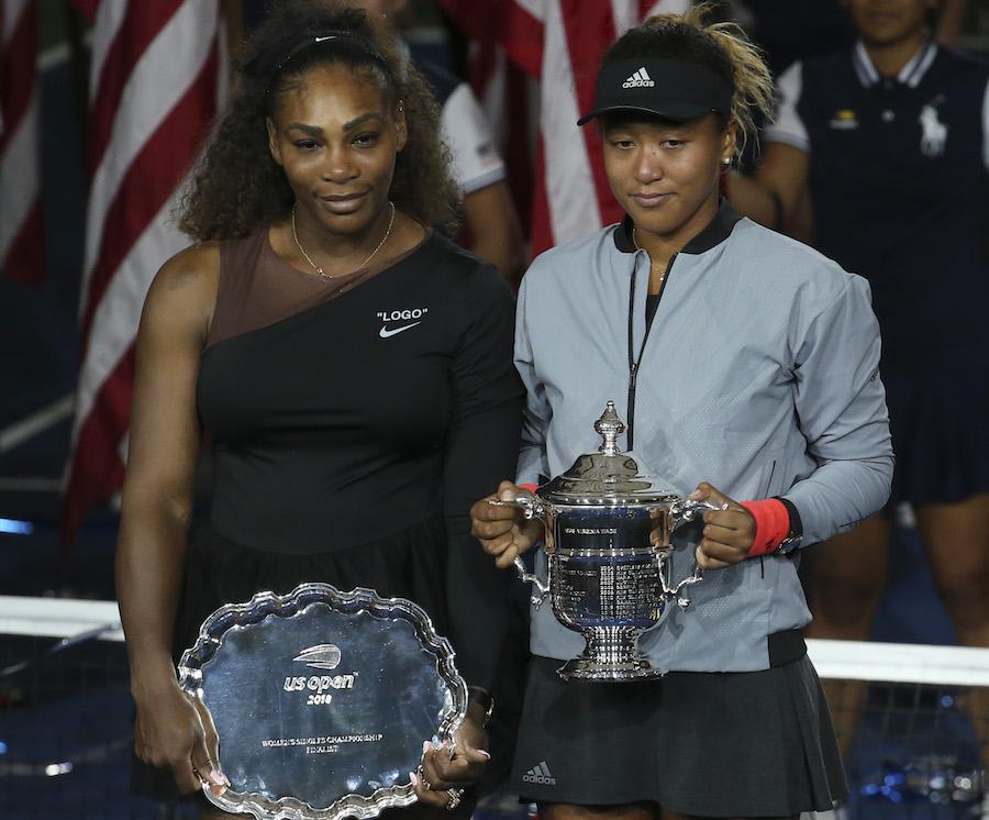 Serena Williams and Naomi Osaka at U.S. Open