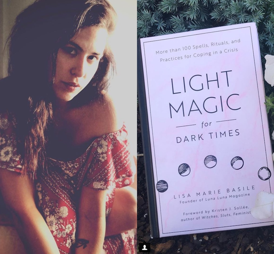 Lisa Marie Basile and her book Light Magic for Dark Times