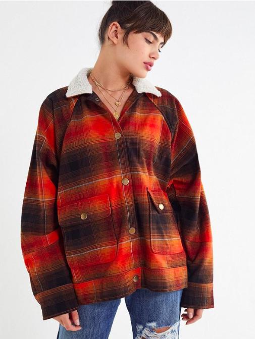 UO Chealsea flannel shirt jacket
