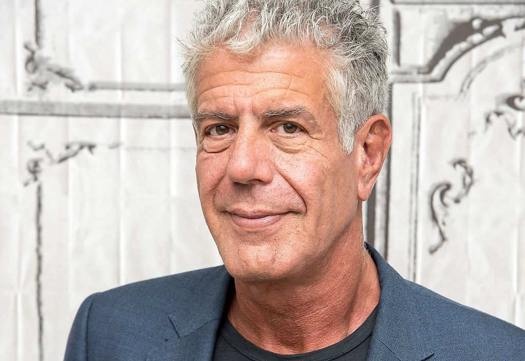 """NEW YORK, NY - NOVEMBER 02: Anthony Bourdain visits the Build Series to discuss """"Raw Craft"""" at AOL HQ on November 2, 2016 in New York City."""