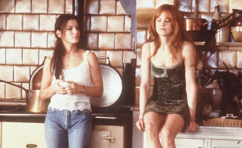 Scene from Practical Magic, starring Sandra Bullock and Nicole Kidman