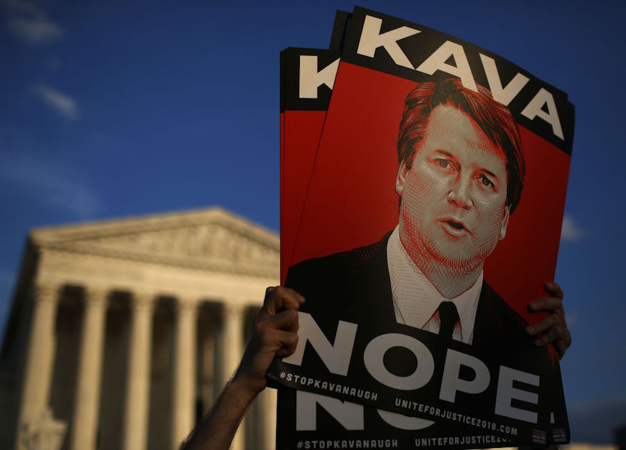 Protesters against Kavanaugh confirmation