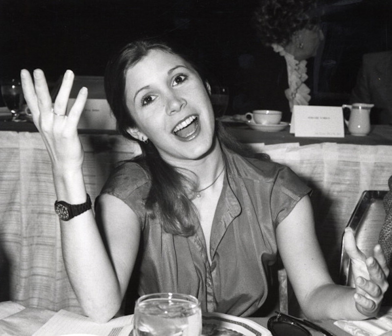 Carrie Fisher at 31st Golden Globes