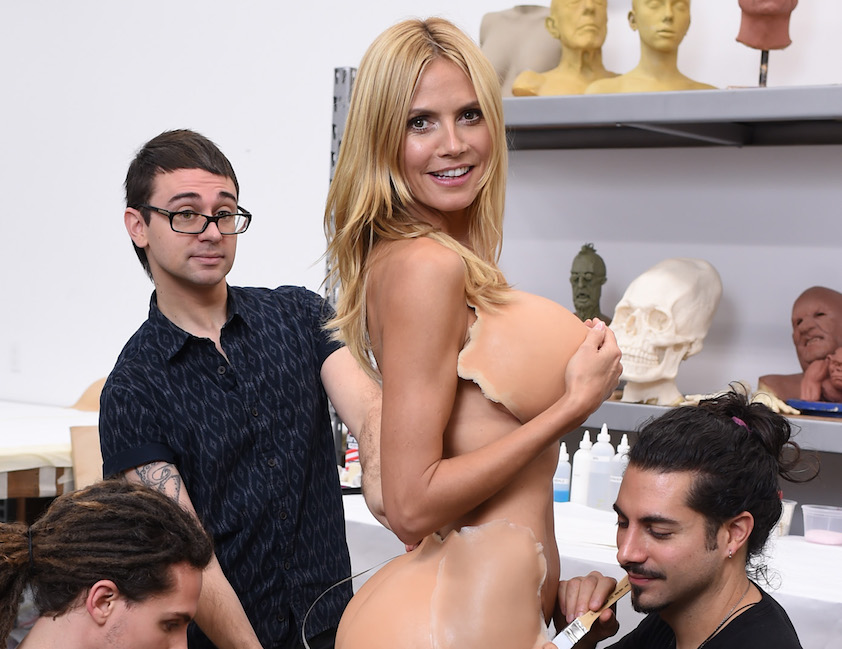 Heidi Klum Gives A Sneak Peek Of Her Halloween Costume For Her Annual Party At LAVO Sponsored By GSN's Hellevator And SVEDKA Vodka