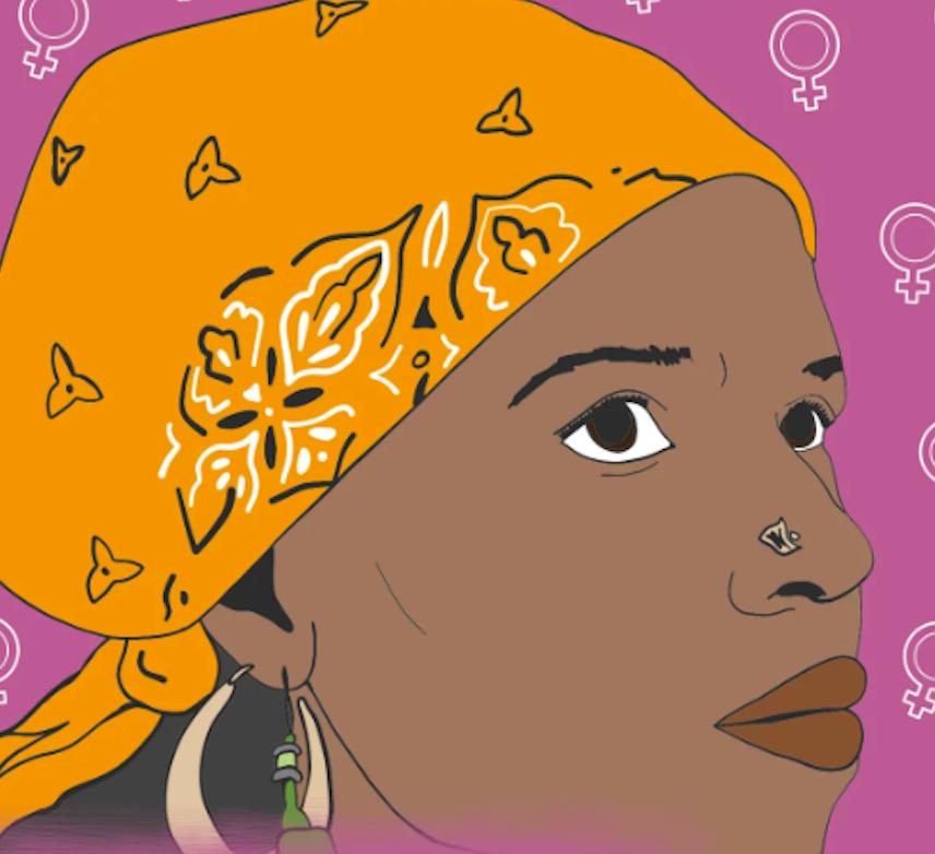 Illustration of Ntozake Shange