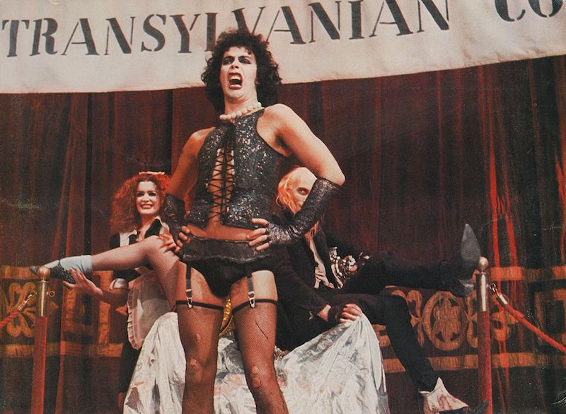 """Tim Curry as Frank N. Furter in """"The Rocky Horror Picture Show"""""""