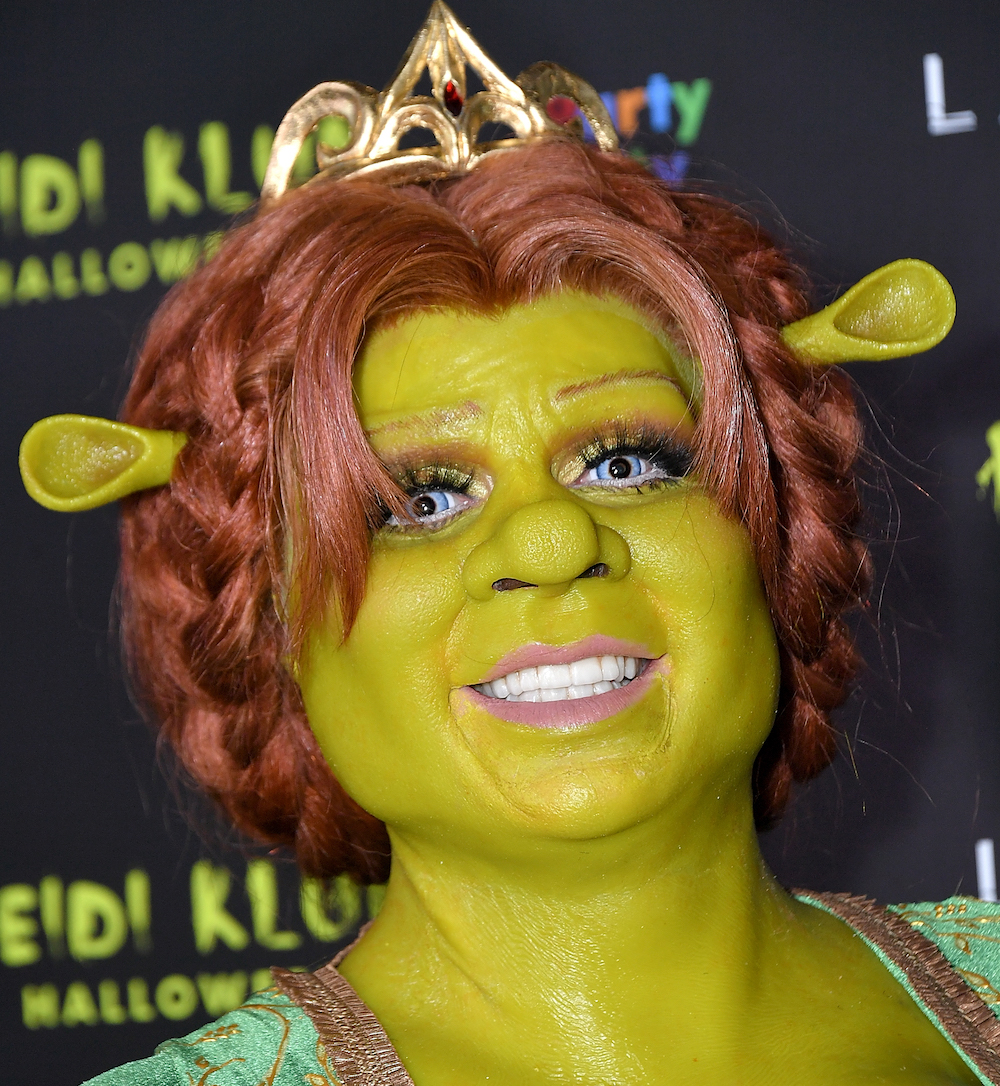 Heidi Klum Fiona Shrek Costume