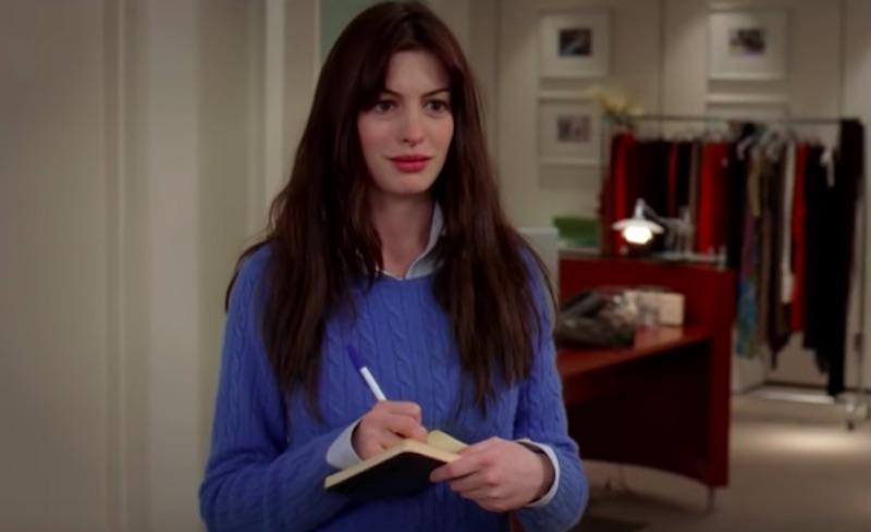 """Anne Hathaway in """"Devil Wears Prada"""""""