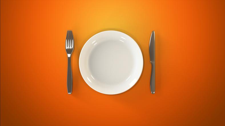An empty dinner plate