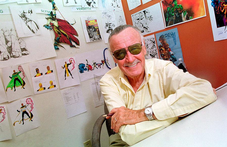 Stan Lee in his Los Angeles office