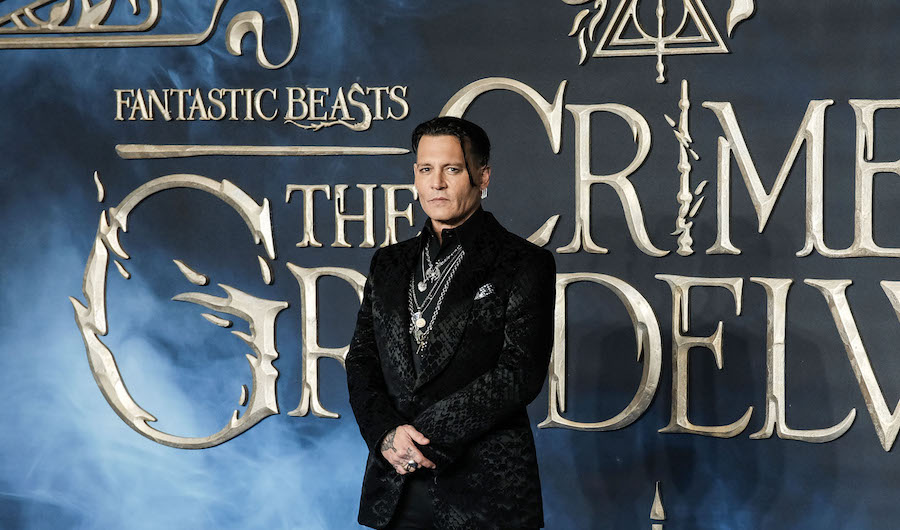 Johnny Depp at premiere of Fantastic Beasts 2