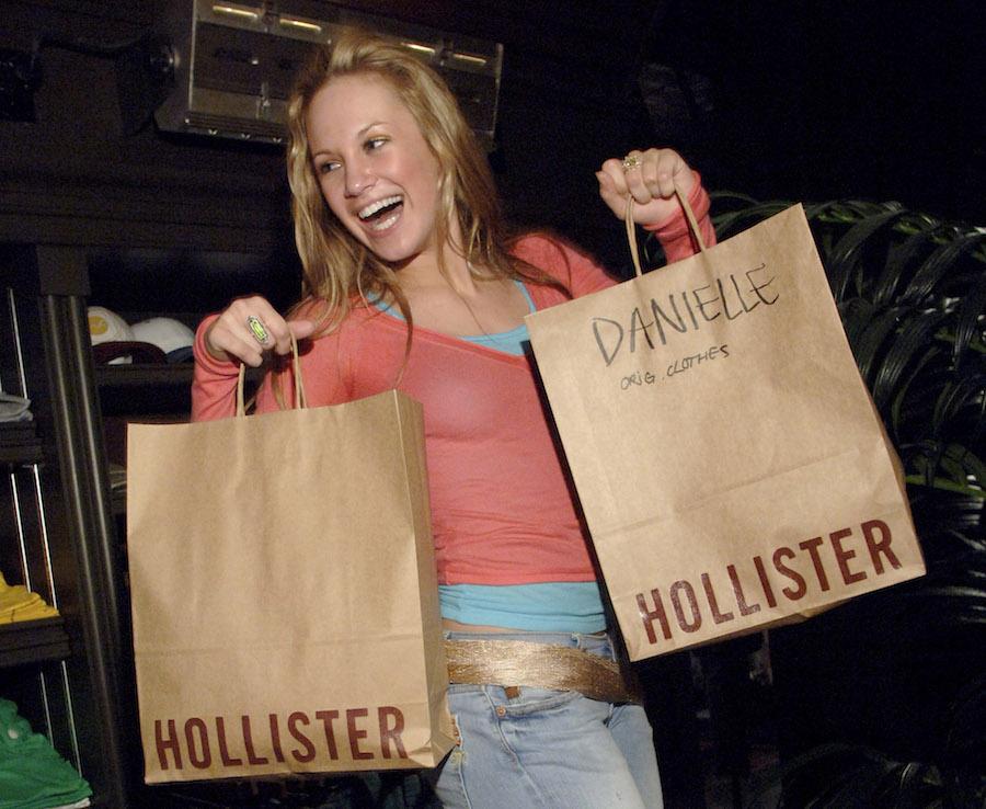 "Danielle Savre during Jesse McCartney's ""Summerland"" cast visit"