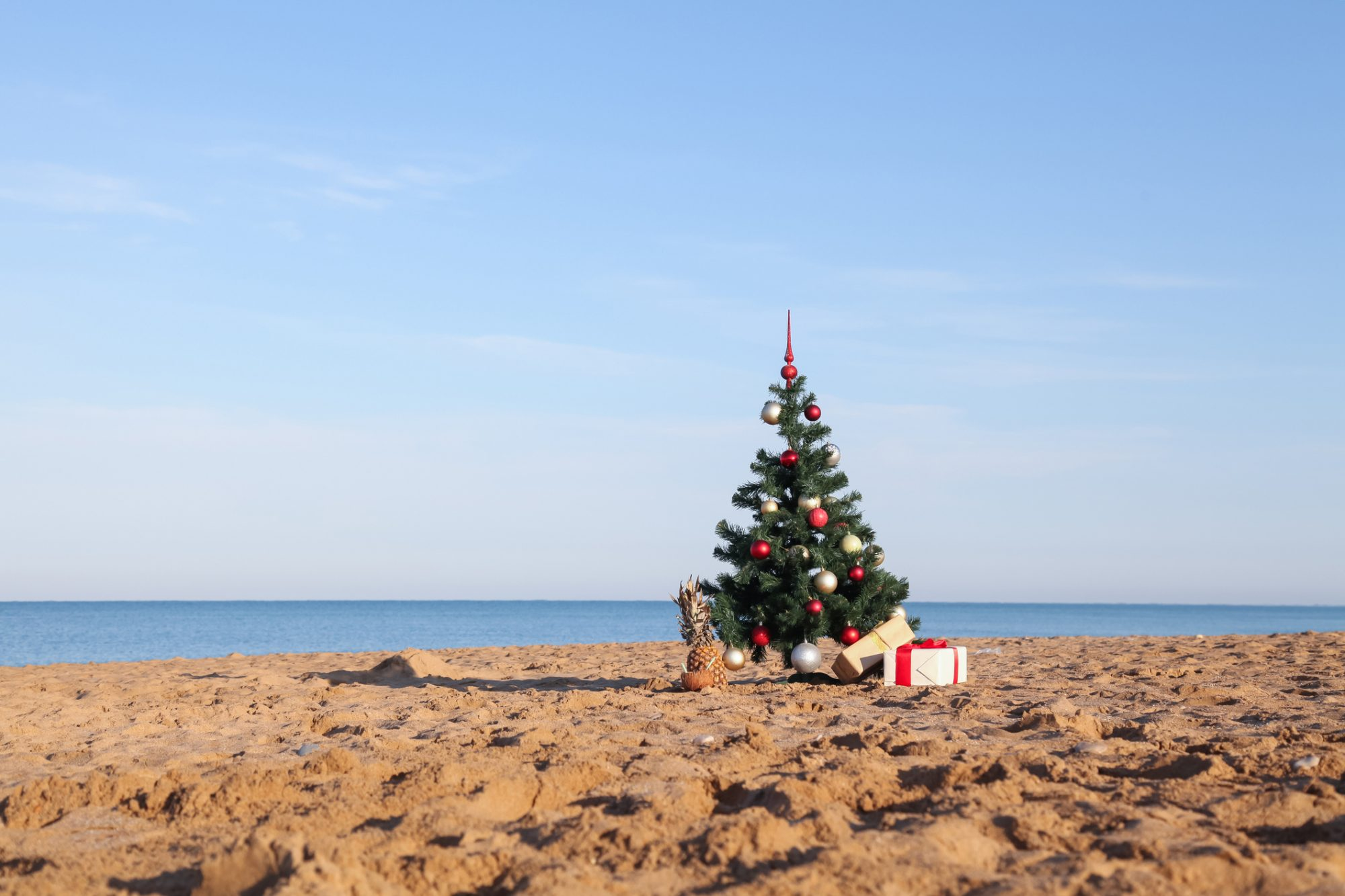 holiday spirit in hot climate
