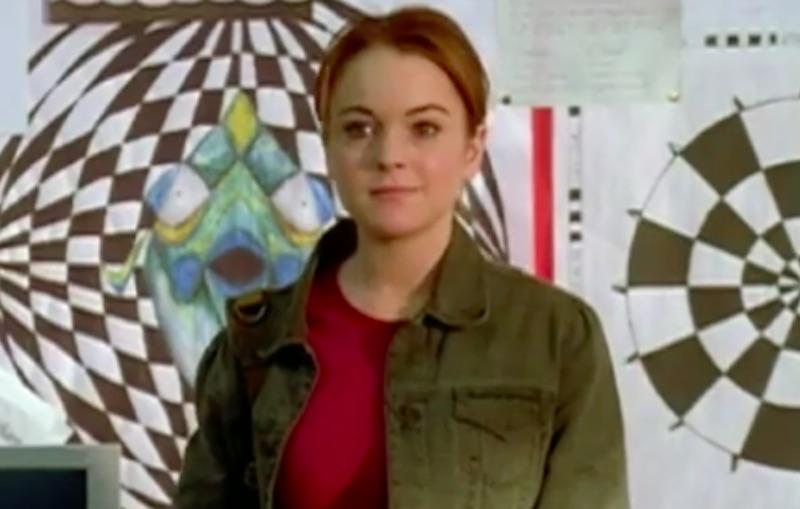 Cady Heron (Lindsay Lohan) in Mean Girls