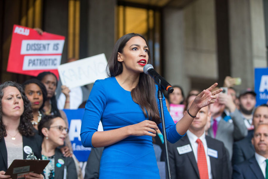 Alexandria Ocasio-Cortez at rally