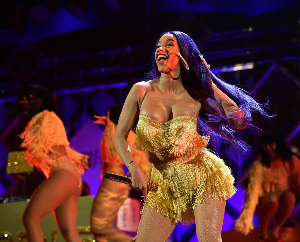 INGLEWOOD, CA - NOVEMBER 30: Cardi B performs onstage during 102.7 KIIS FM's Jingle Ball 2018 Presented by Capital One at The Forum on November 30, 2018 in Inglewood, California.