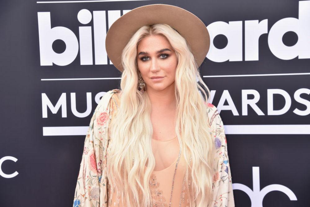 Kesha honored Ruth Bader Ginsburg in an emotional performance.
